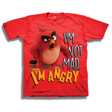 Short Sleeve Angry Birds T-Shirt-Preschool Boys