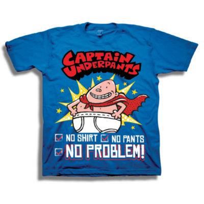Short Sleeve Captain Underpants T-Shirt-Preschool Boys