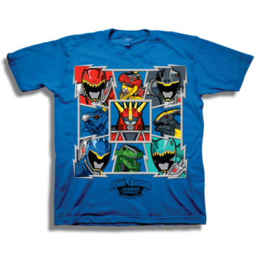 Short Sleeve Power Rangers T-Shirt-Preschool Boys
