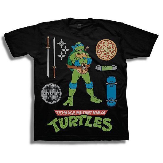 Boys Short Sleeve Teenage Mutant Ninja Turtles T-Shirt-Preschool