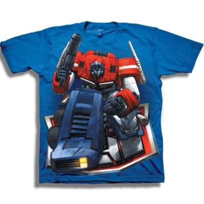 Short Sleeve Transformers T-Shirt-Preschool Boys