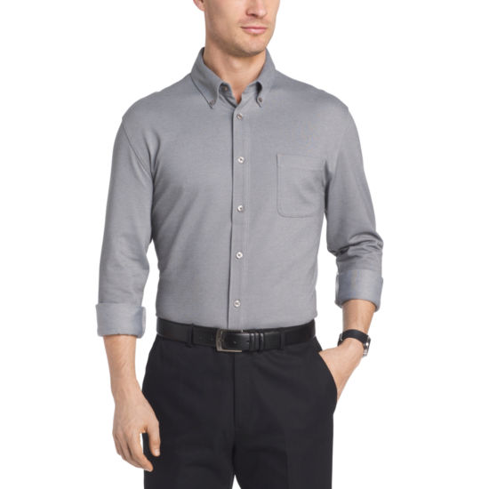 Van Heusen Long Sleeve Traveler Button Front Kint