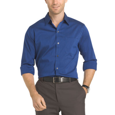 Van Heusen Long Sleeve Slim Fit Traveler Non Iron Stretch Shirt