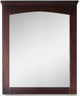 American Imaginations 30-in. W X 31.5-in. H Modern Plywood-Veneer Wood Mirror In Walnut
