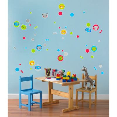 Dogs and Dots Puppy Home Room Decor Removable Wall/Locker/Door/Decal Kids/Children