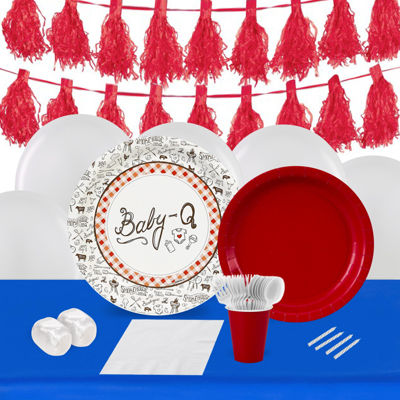 Baby-Q  16 Guest Tableware & Deco Kit