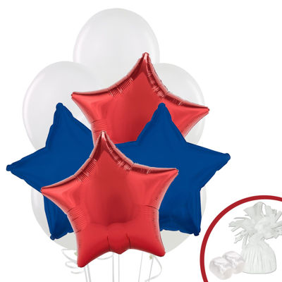 Red & Navy Star Balloon Bouquet