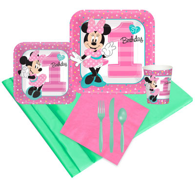 Disney Minnie Mouse 1st Birthday 16 Guest Party Pack