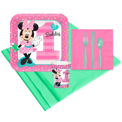 Disney Minnie Mouse 1st Birthday 8 Guest Party Pack