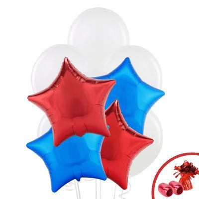 Red & Blue Star Balloon Bouquet