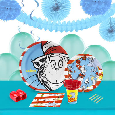 Dr Seuss 16 Guest Tableware & Deco Kit