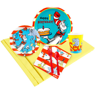 Dr. Seuss 1st Birthday 48 Guest Party Pack
