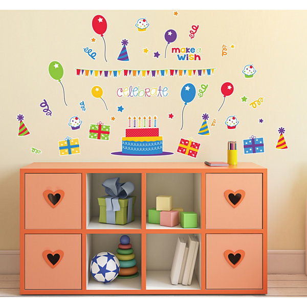 Celebrate Birthday Cupcake Home Room Decor Removable Wall/Locker/Door/Decal Kids/Children