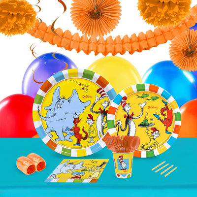 Dr Seuss Favorites 16 Guest Tableware & Deco Kit