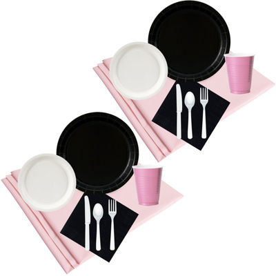 Buyseasons Black White & Pink Party Pack