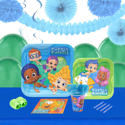 Bubble Guppies 16 Guest Tableware & Deco Kit