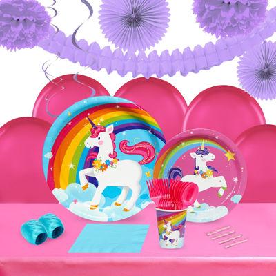 Fairytale Unicorn Party 16 Guest Tableware & DecoKit
