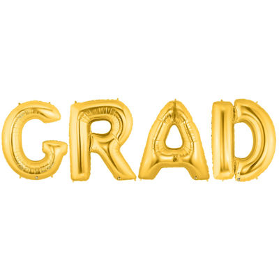 Jumbo Gold Grad Party Pack