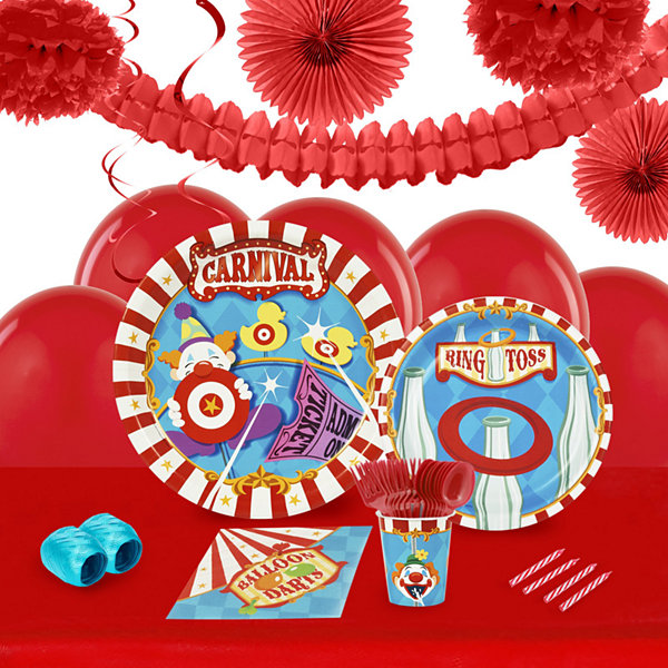 Carnival Games 16 Guest Tableware & Deco Kit