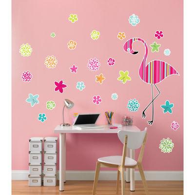 Flamingo Home Room Decor Removable Wall/Locker/Door/Decal Kids/Children