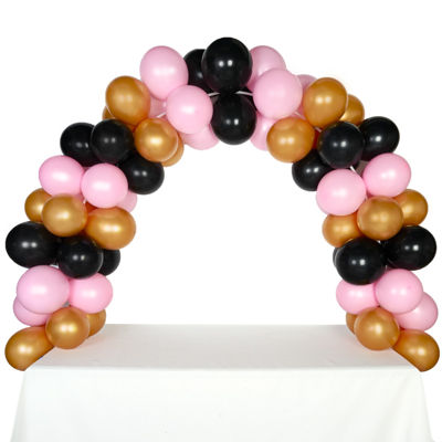 Celebration Tabletop Balloon Arch-Gold Black & Pink