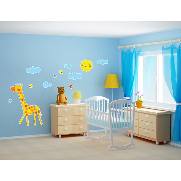 Giraffe Home Room Decor Removable Wall/Locker/Door/Decal Kids/Children