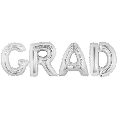 Jumbo Silver Grad Party Pack