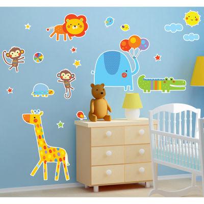 Jungle Zoo Animal Safari Home Room Decor RemovableWall/Locker/Door/Decal Kids/Children