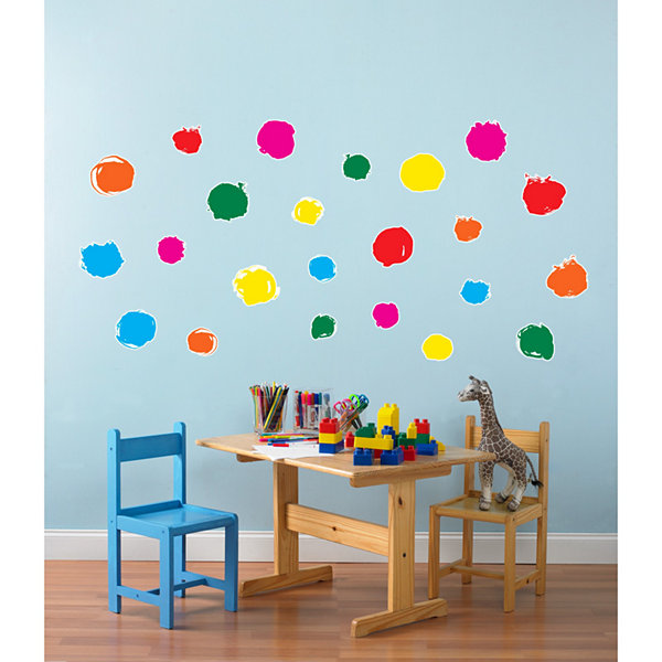 Circle Dot Confetti Home Room Decor Removable Wall/Locker/Door/Decal Kids/Children