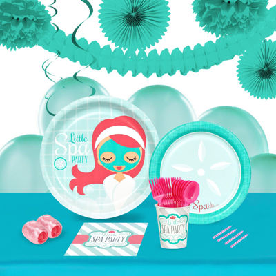 Little Spa Party 16 Guest Tableware & Deco Kit