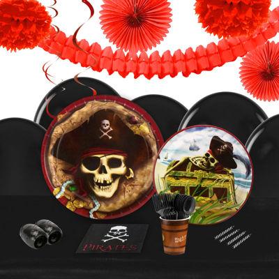 Pirates 16 Guest Tableware & Deco Kit