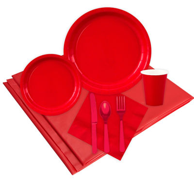 24 Guest Red Party Pack