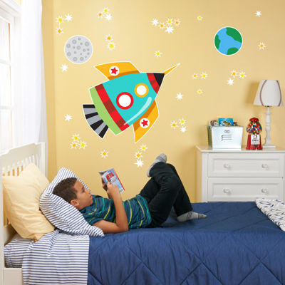 Rocket Home Room Decor Removable Wall/Locker/Door/Decal Kids/Children