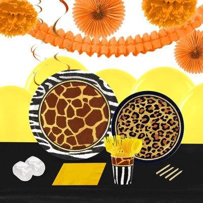 Safari Animal Adverture 16 Guest Tableware & DecoKit