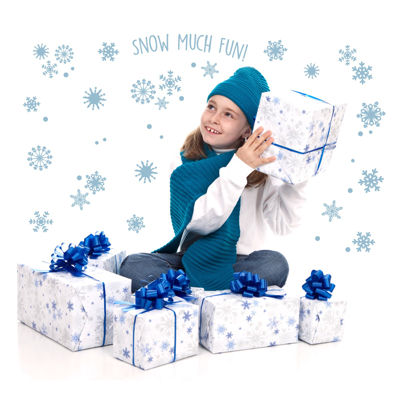 Snowflakes Snow Much Fun Winter Home Room Decor Removable Wall/Locker/Door/Decal Kids/Children