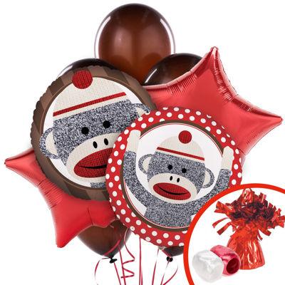 Sock Monkey Red Balloon Bouquet