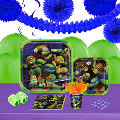 Teenage Mutant Ninja Turtles 16 Guest Tableware &Deco Kit
