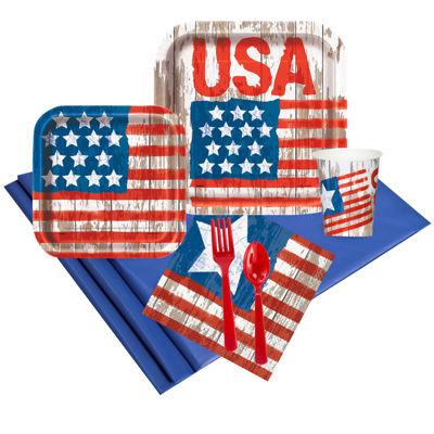 Vintage Patriotic Flag Party Pack