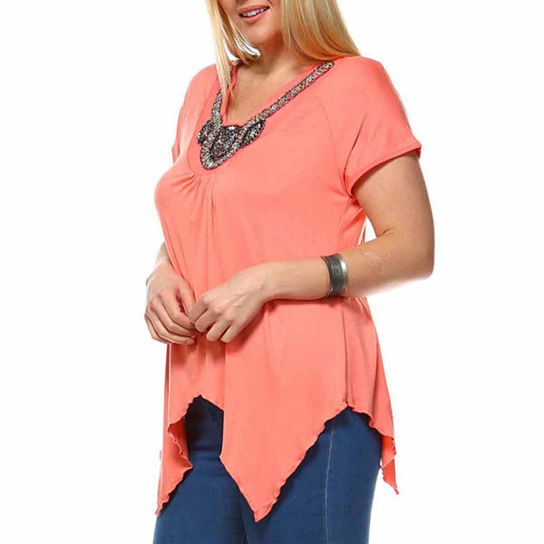 White Mark Grace Tunic Top-Plus
