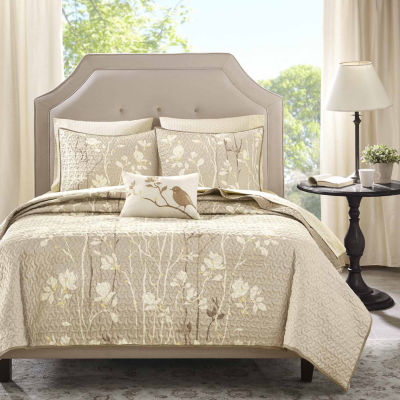 Madison Park Sonora Floral Coverlet Set