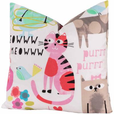Crayola Purrty Cat Throw Pillow