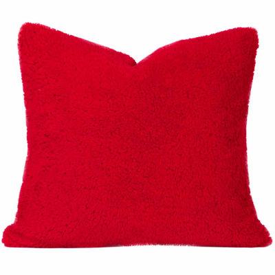 Crayola Playful Plush Scarlet Throw Pillow