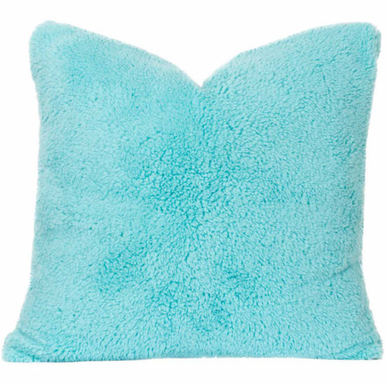Crayola Playful Plush Robin'S Egg Blue Throw Pillow