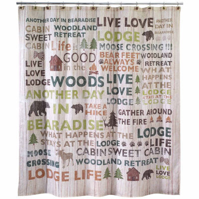 Avanti Cabin Words Shower Curtain