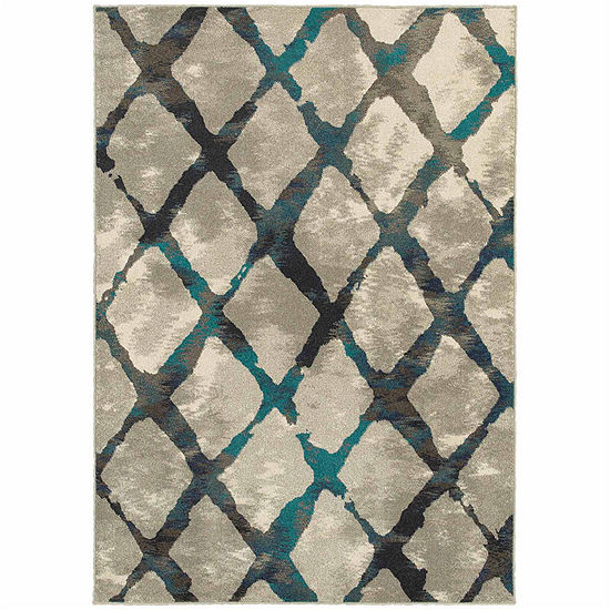 Covington Home Helena Stones Rectangular Indoor Rugs