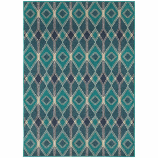 Covington Home Helena Diamonds Rectangular Rugs