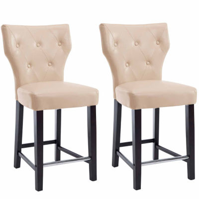 Kings Bonded Leather Counter Height Bar Stool