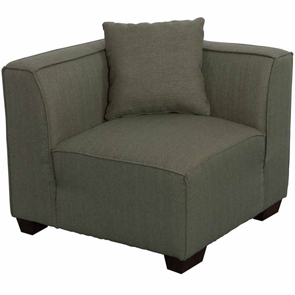 Lida Fabric Corner Wedge Sectional Chair