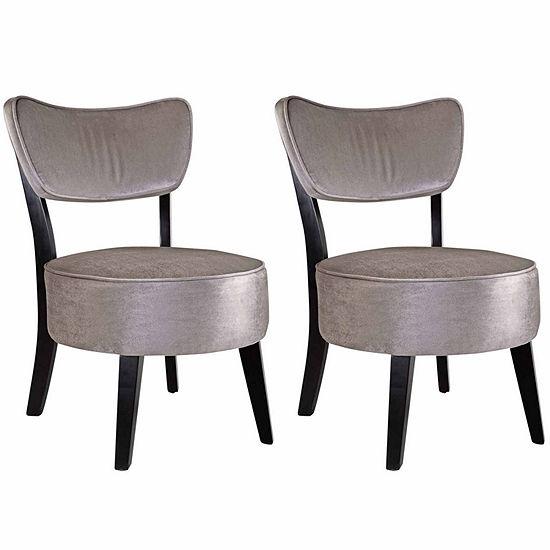 Antonio Velvet Club Chair-Set of 2