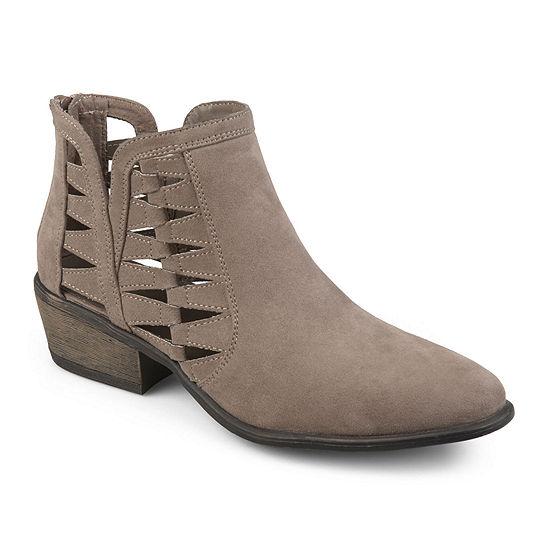 Journee Collection Womens Finley Booties Block Heel